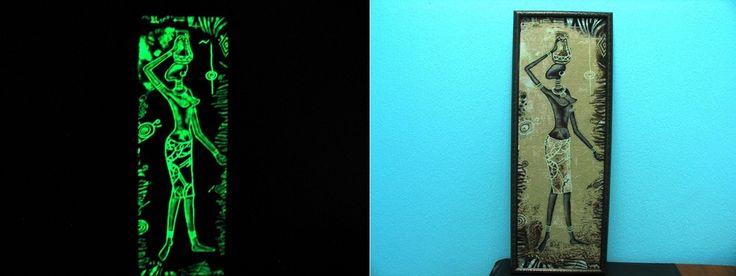 Картина с использованием светящейся в темноте краски Acmelight ****Picture with using glows in the dark paint Acmelight #светящаяся #краска #glows #paint #picture
