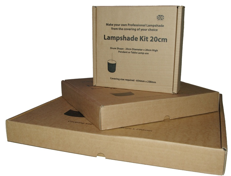 Design your own lamp with these DIY lampshade kits. You only need some fabric or left over wallpaper. Instructions included. http://www.lampenmaken.nl/onderdelen/lampenkappen/complete-sets/rond.html We ship international, just contact us.