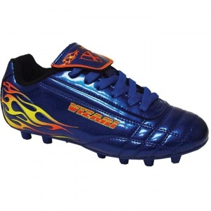SALE - Kids Vizari Blaze Soccer Cleats Blue Leather - Was $23.99 - SAVE $4.00. BUY Now - ONLY $19.99