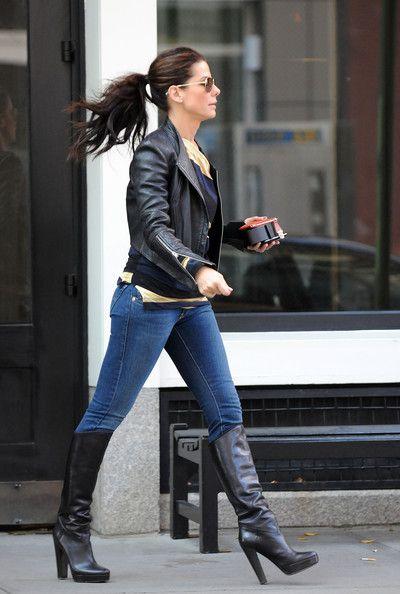 Blue jeans + black boots