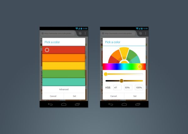 Firefox for Android - Colour Picker