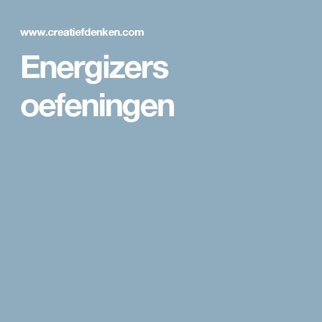Energizers oefeningen