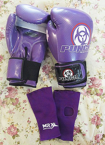 I started doing Boxing classes at my gym, gloves are provided but some ladies bring their own gloves...coz they kinda get a bit smelly...so I got these to wear to class....I love them