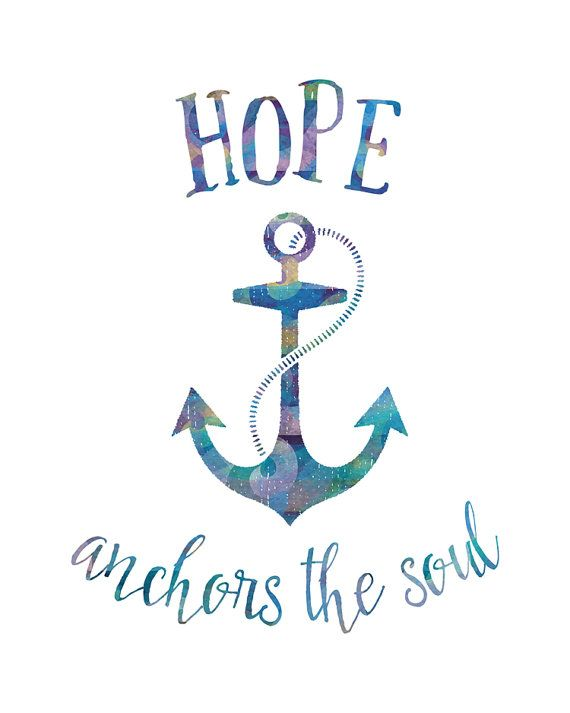 Hope Anchors the Soul Printable Art Nautical by NoondaybyTracey