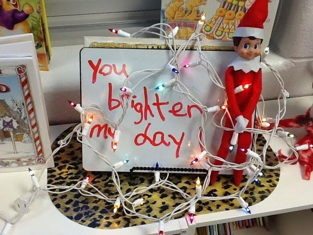 TONS of cute ideas for elf on the shelf in the classroom, love all the science experiment ideas like elf pudding and elf toothpaste!