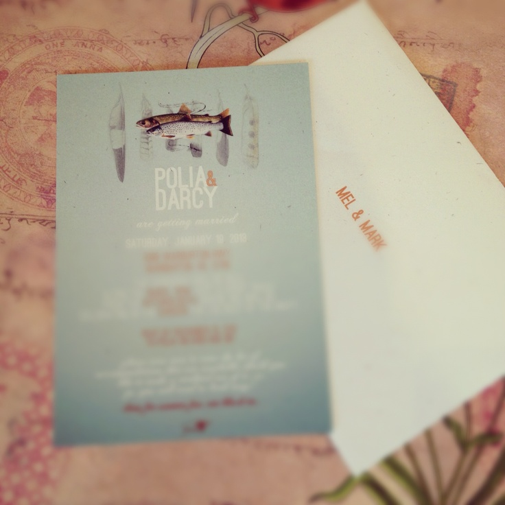 My Wedding Invites I designed.
