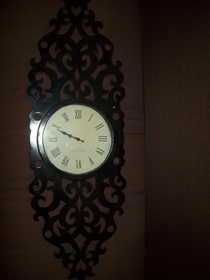 Black wall clock 5293