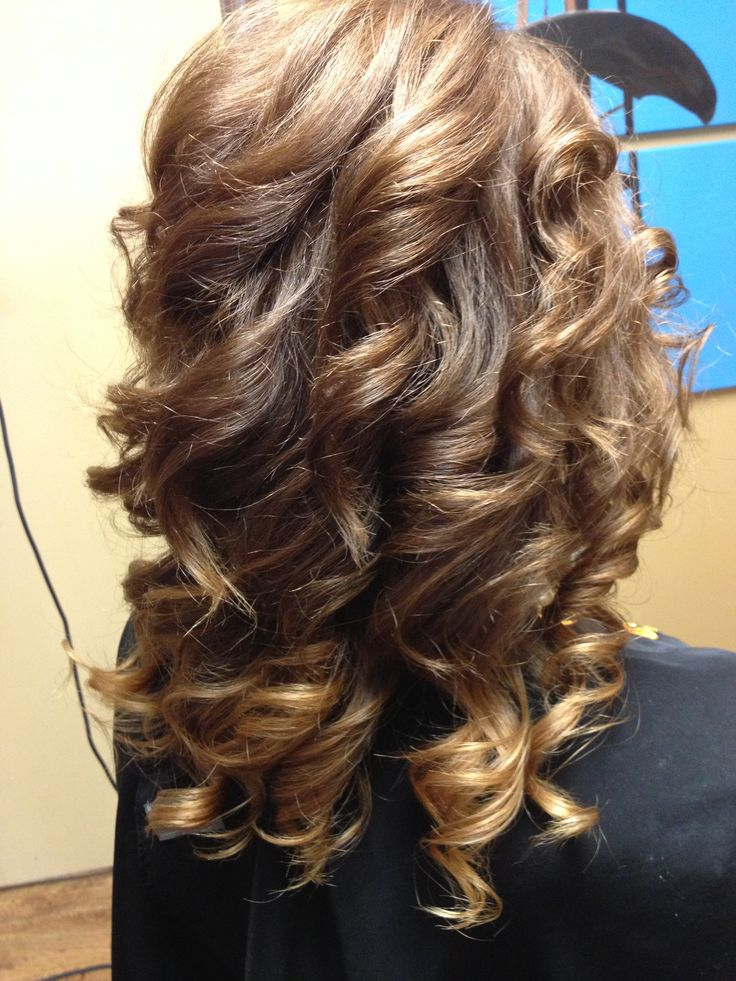 curly, subtle ombre