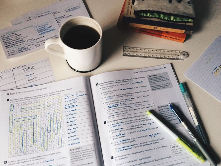 """mystudystation: """" 31st May ~ 17:56 French grammar revision on this rainiest of summer days. i'm just working through this grammar workbook each day, it helps to make wild language revision more modular and structured & gives me an actual goal to work..."""