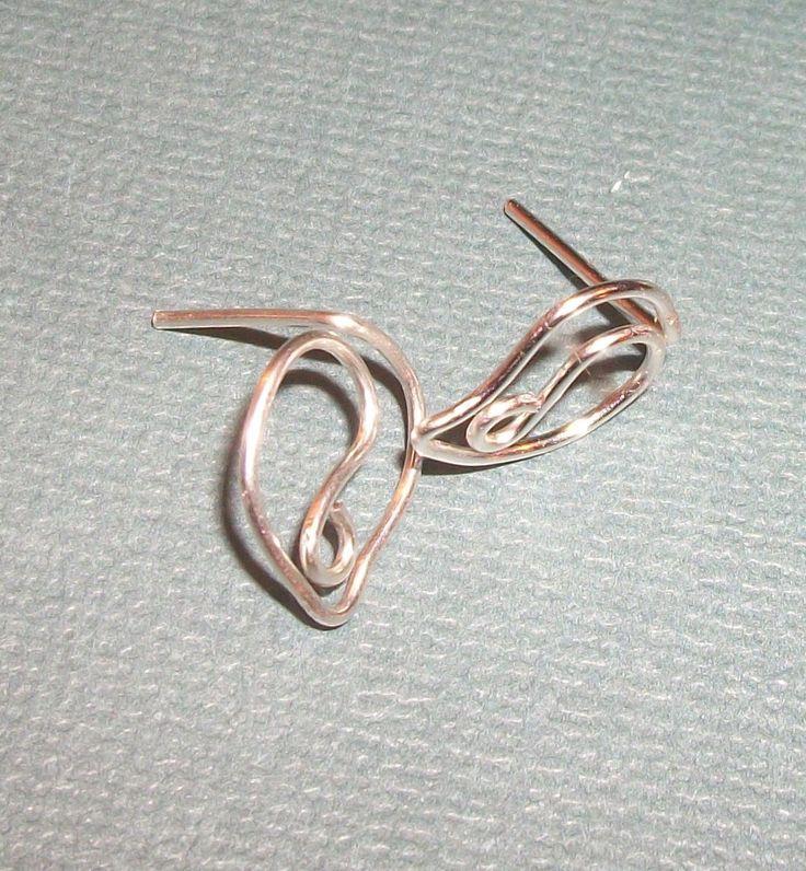 Leafy Sterling Silver  Ear Studs.