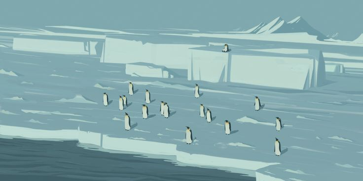 The Journey of the Penguin : Emiliano Ponzi