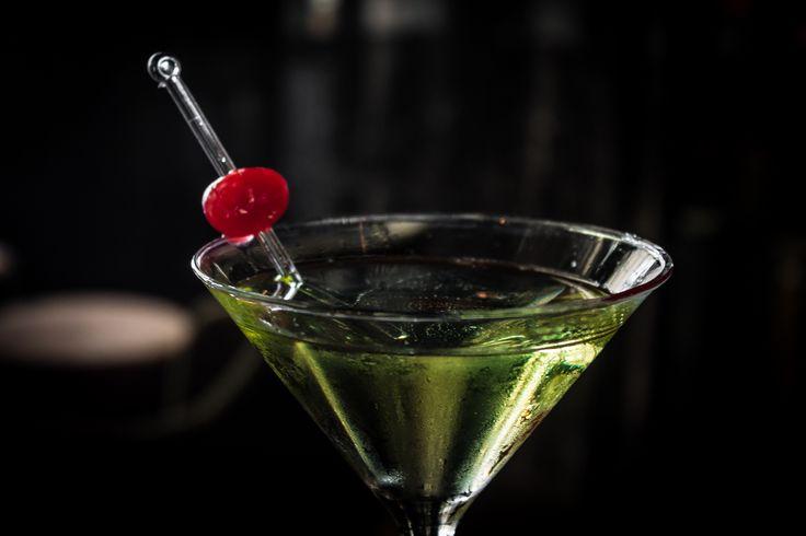 Delicious green drink at Koi Bar of #GrandVelas #Rivieranayarit. Martini and Cherry