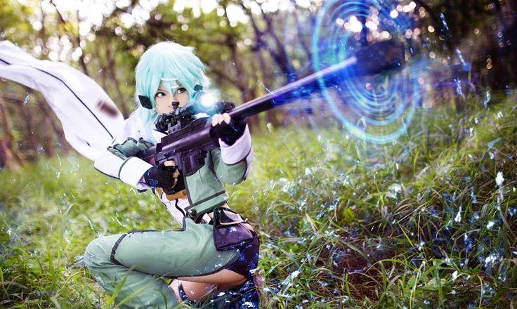 Cute Sinon Cosplay : Sword Art Online II - MyAnimeGirls