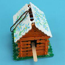 vogelhuisje van ijsstokjes voor bouwen (+ uitgebreide werkbeschrijving )