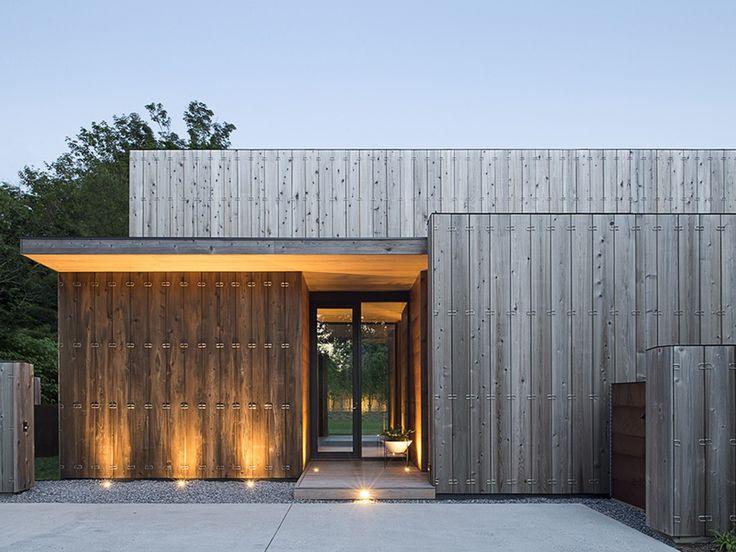 fachada de madeira em casa contemporânea