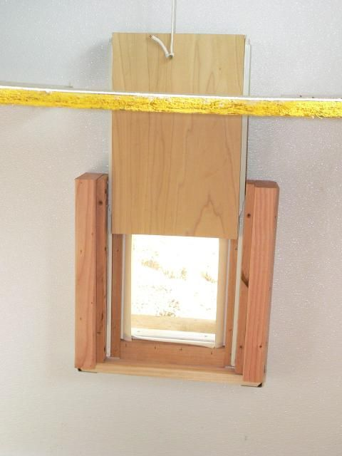 Attach drawer slides to either side of the door to the run and seal out drafts & 12 best Chicken Coops - Pop Door images on Pinterest | Chicken coops ...
