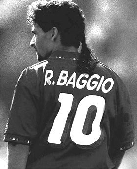 Roberto Baggio.. The best player ever to grace the  Azzurri and my hero since childhood  ❤⚽