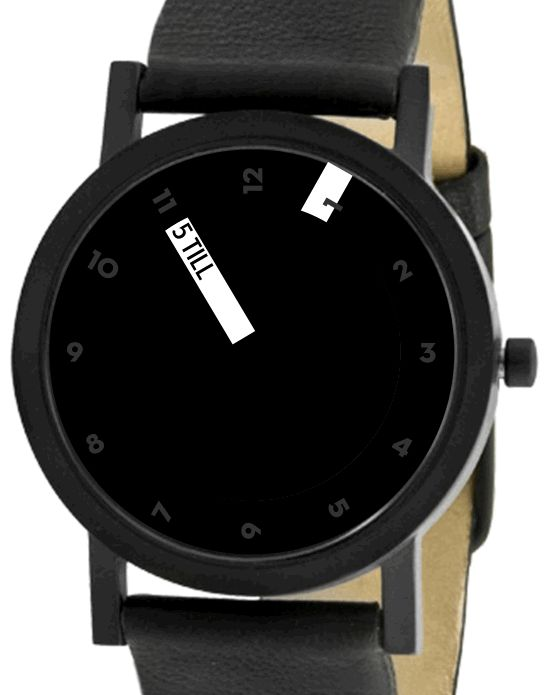 Projects Till Watch Black. One brilliant 'verbal' watch.