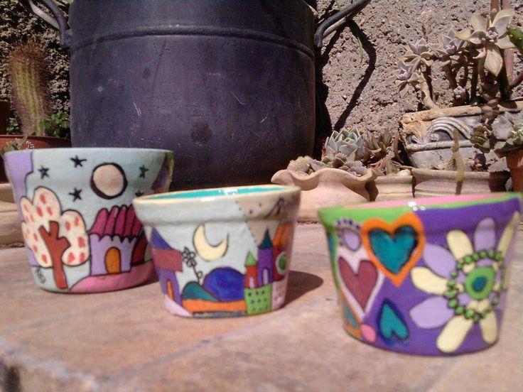 103 best macetas images on pinterest   flower pots, paint pots and