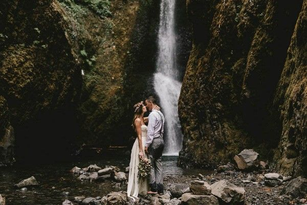 Intimate Barefoot Elopement in the Columbia River Gorge photographed by Jess Hunter // Portland, OR wedding photographer
