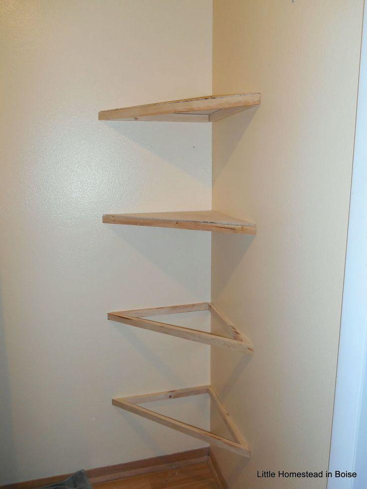 diy floating corner shelves | final decor decsion instructions | floating shelves diy, floating