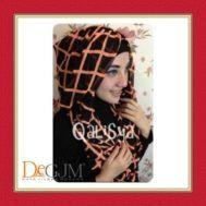 Jilbab Hoodie Ceruti Cantik Modern Danica Square Colour by Qalisya Hijab
