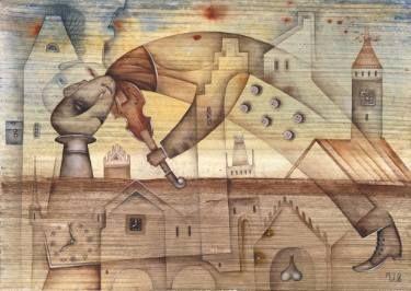 A morning dreams by Eugene Ivanov, watercolor on paper, 29 X 41 cm, $465. #eugeneivanov #@eugene_1_ivanov #modern #original #oil #watercolor #painting #sale #art_for_sale #original_art_for_sale #modern_art_for_sale #canvas_art_for_sale #art_for_sale_artworks #art_for_sale_water_colors #art_for_sale_artist #art_for_sale_eugene_ivanov #jew #jewish #judaic