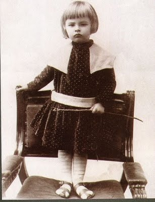 Witold Gombrowicz, 6 years old....