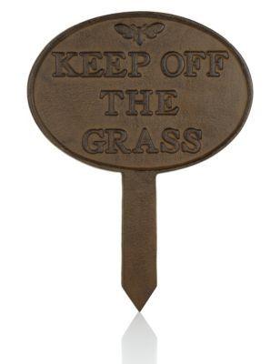 Pancarte «Keep Off Grass»