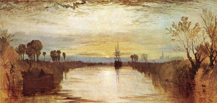ターナー 《 チチェスター運河 》 1828 Oil on canvas, 65.5 x 134.5 cm テイト・ギャラリー、ロンドン
