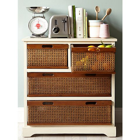 Virginia 4-Drawer Storage Unit, Ivory $279.00
