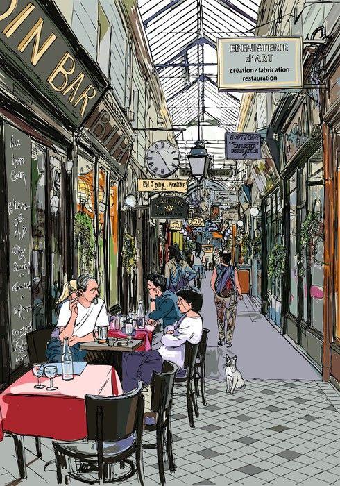 Fototapeta Zmywalna Przejście w Paryżu - Tematy