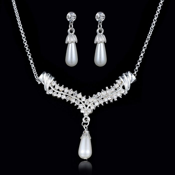 Cheap jewelry supplies ring settings, Buy Quality jewelry butterfly directly from China jewelry organiser Suppliers:         Wedding crystal Jewelry sets vintage bridal rhinestone set imitation pearl dangle earings necklaces set we