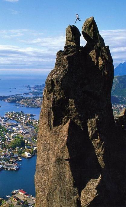 Rock jump, Norway #superinspiring