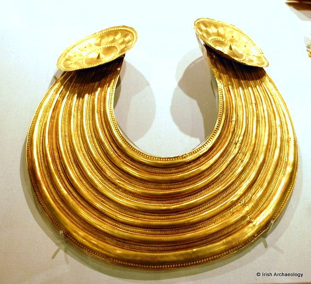 The Gleninsheen Gold Collar, a Bronze Age Treasure from Ireland, it's 3000 years old