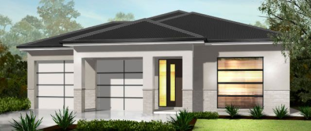 The Teramo Facade Option 02 - from the Weeks Peacock Homes Alfresco Living Range. This elegant home delivers a stunning Master suite with resort style ensuite bathroom and huge walk in robe. The living spaces embrace alfresco living with beautiful openings to the exterior via generous sliding doors.