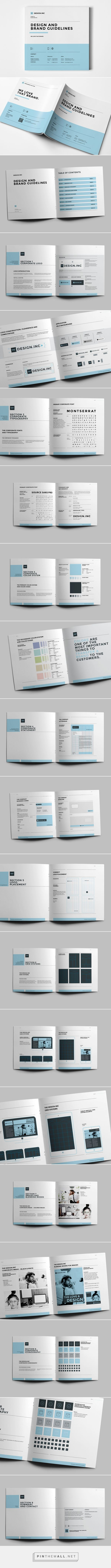 Brand Manual on Behance - created via http://pinthemall.net More More