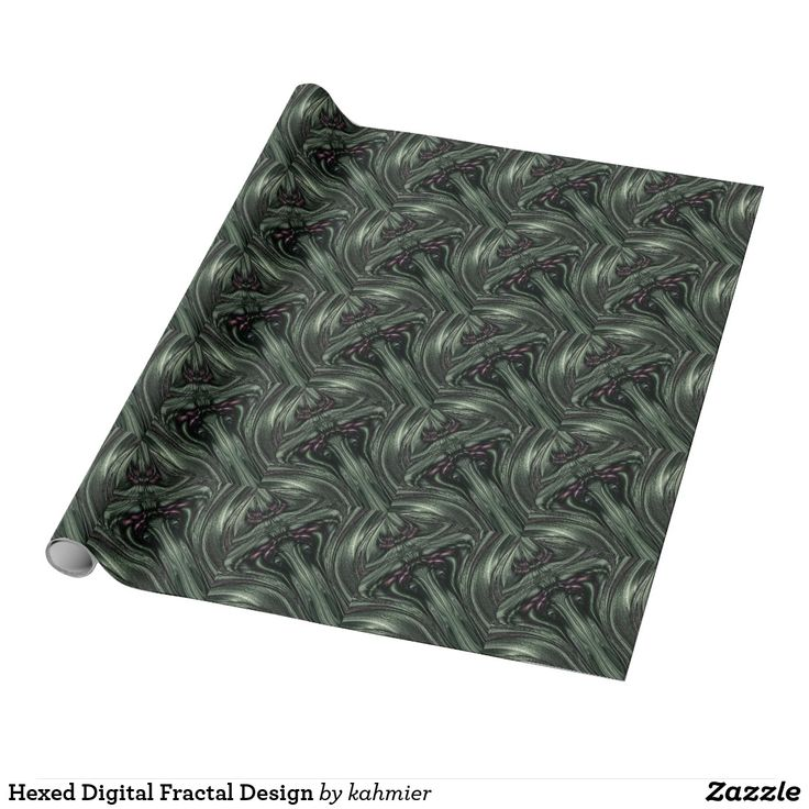 this is a beautiful roll of gift wrap Hexed Digital Fractal Design Wrapping Paper