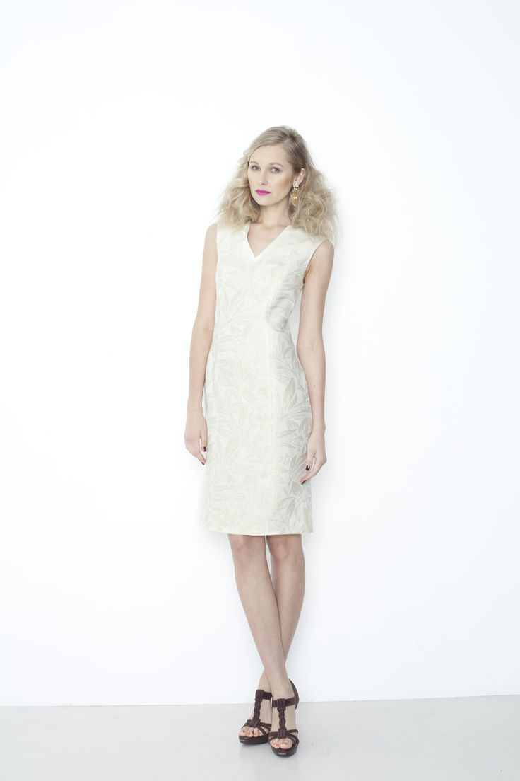 The Ivy Dress - ivory/gold
