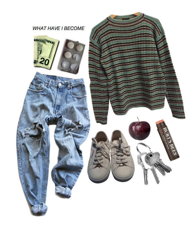 """""""✨  7:28pm"""" by yoursxtrulyxjaylin ❤ liked on Polyvore featuring Levi's, Prada, Superga and Burt's Bees"""