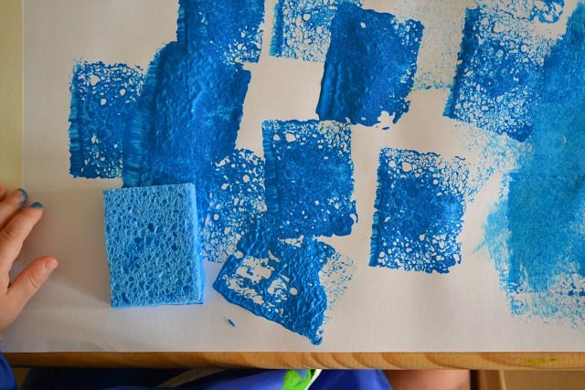 how to make shapes out of sponges