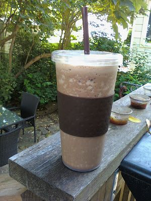 Delicious Homemade Chocolate Iced Cap - in less than 5 mins! Recipe for two:Ice cubes 2 rounded tsp of cocoa 2 rounded tsp of decaff instant coffee 2-6 rounded tsp of sugar 1- 2 cups of milk