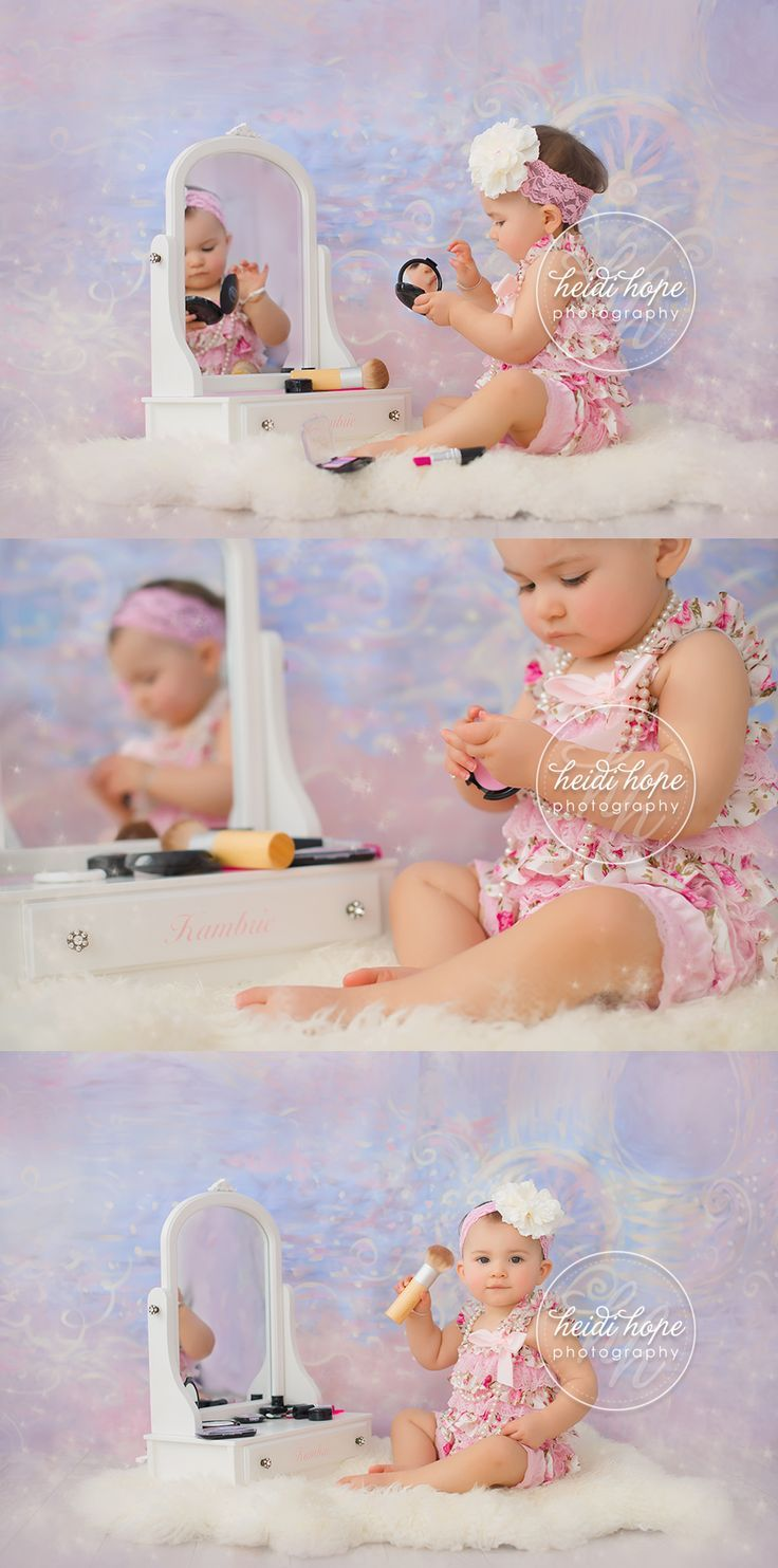This little one loved her makeup! | Baby photoshoot girl, Baby photography, Baby  photoshoot