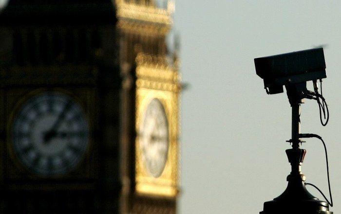 Britain is about to enshrine into law a surveillance bill with significant powers allowing the state to snoop on its citizens and bulk collect their data.  A CCTV (Closed Circuit Television) camera is seen against the backdrop of Big Ben in central London