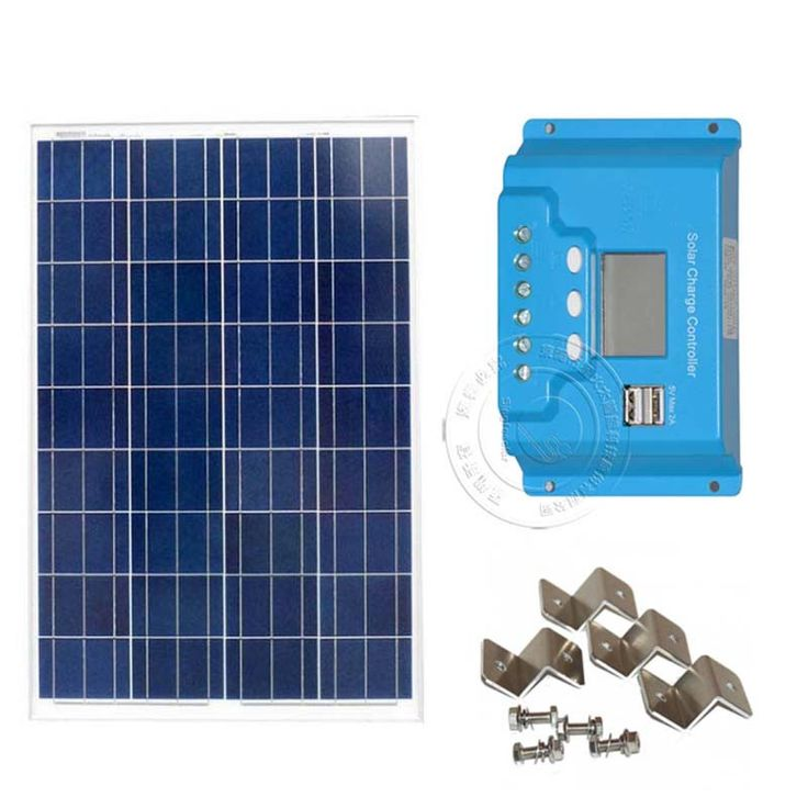 ==> [Free Shipping] Buy Best 100 Watt Solar Panel Kit 10A LCD Display PWM Charge Controller  MC4 Connectors Mounting Z Brackets for 12V Battery Off Grid Online with LOWEST Price | 32756689527
