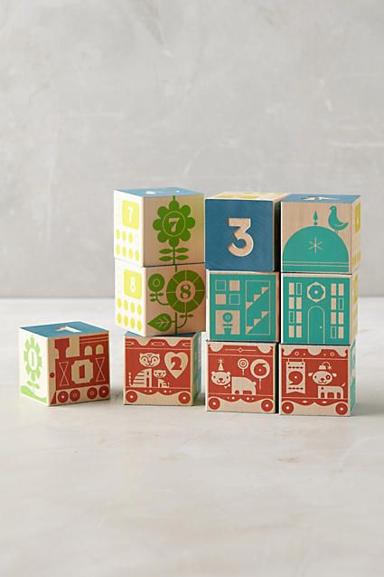 Count And Stack Number Blocks - anthropologie.com