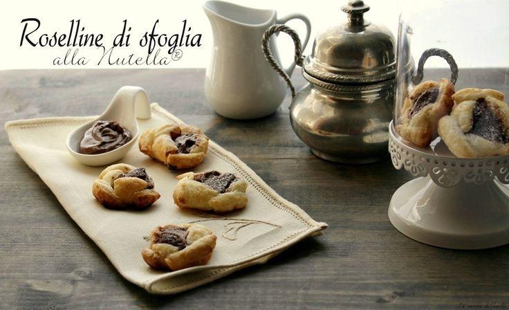 Roselline di sfoglia alla nutella una ricetta veloce e sfiziosa con la pasta sfoglia già pronta ricetta roselline di sfoglia alla nutella