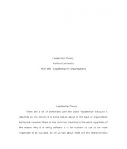 MGT380  MGT 380  Week 5 Final Leadership Theory Paper --> http://www.scribd.com/doc/129209329/MGT380-MGT-380-Week-5-Final-Leadership-Theory-Paper