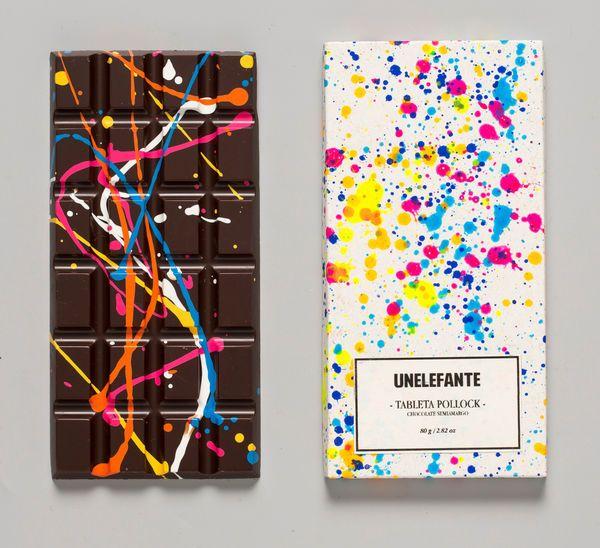 Paint-Splattered Chocolates - Unelefante's Jackon Pollock Style Chocolate Bars Are Art-Appreciative (GALLERY)