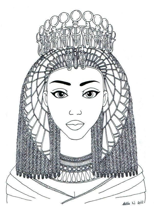 egyptian women coloring pages - photo#4